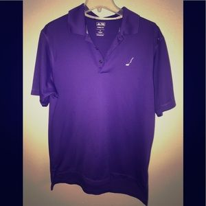 Men's adidas climate polo golf purple sz m